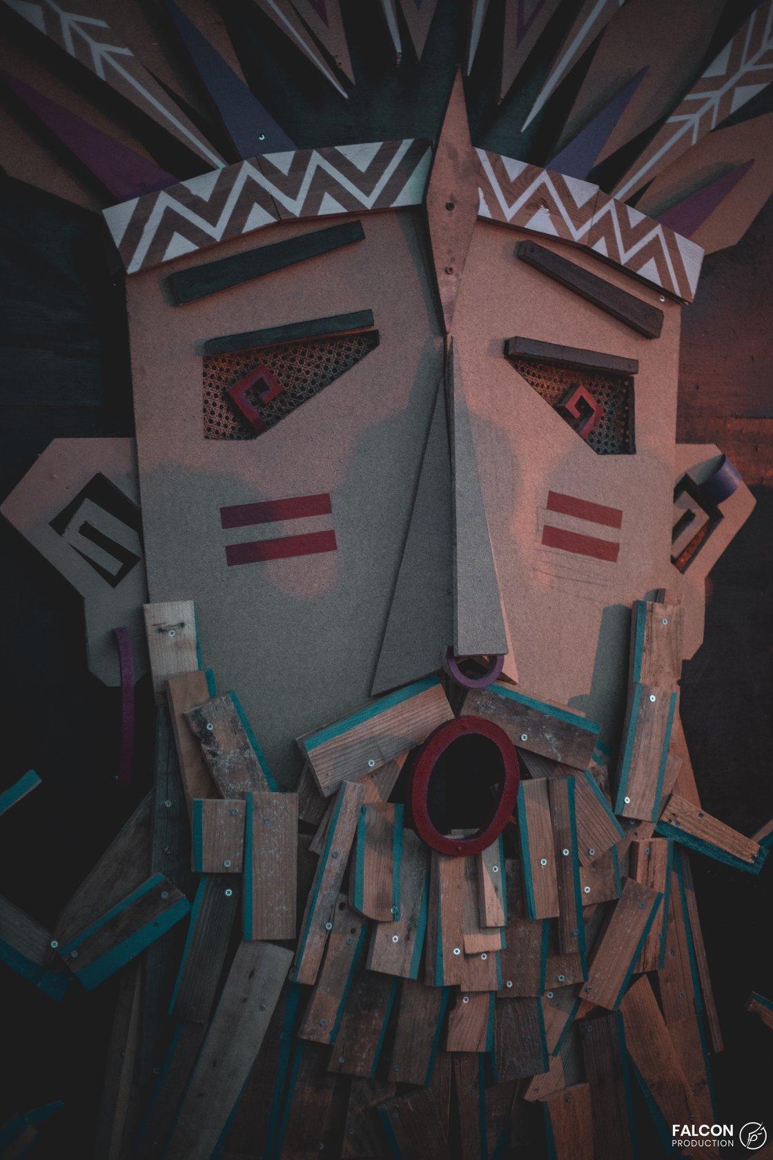 masque géant tribus libres
